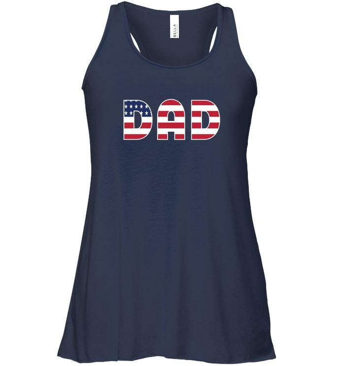 FUNNY DAD DADDY USA Flowy Racerback Tank CHRISTMAS GIFT FOR FATHERS image 2
