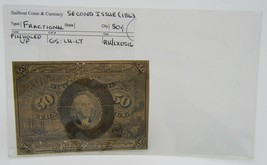 1863 Fractional 50 Cent Currency 2nd Issue VF Pinholed in Sleeve - $29.65