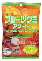 Kasugai Fruit Assort Gummy Candy 3.59oz (3 Pack) - $13.08