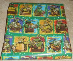 TMNT KIDS TEENAGE MUTANT NINJA TURTLES Christmas Wrapping Paper 20 SQ FT ROLL - $5.50 - $10.00