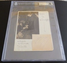 Keith Richards Rolling Stones Signed Vintage 60s Cut Beckett Certified &... - $999.99