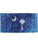 South Carolina Vintage Distressed State Flag All Over Beach Towel - $26.95