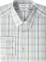 Calvin Klein Men's Dress Shirt Slim Fit Non Iron Stretch Beige Multi SEALED!!! image 1