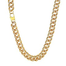 Richsteel Gold Tone Miami Cuban Link Chain 36 '' Hip Hop Jewelry Iced Ou... - $135.92