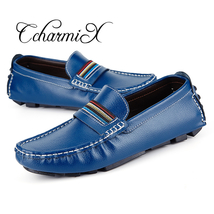 Men Shoes Casual Flats CcharmiX Moccasins 38 47 Big New Loafers 2018 Size Soft IF7F48zx