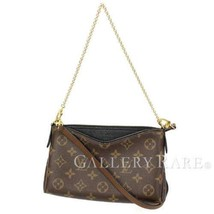 LOUIS VUITTON Pallas Clutch Monogram Noir Shoulder Bag M41639 Authentic ... - $1,000.80