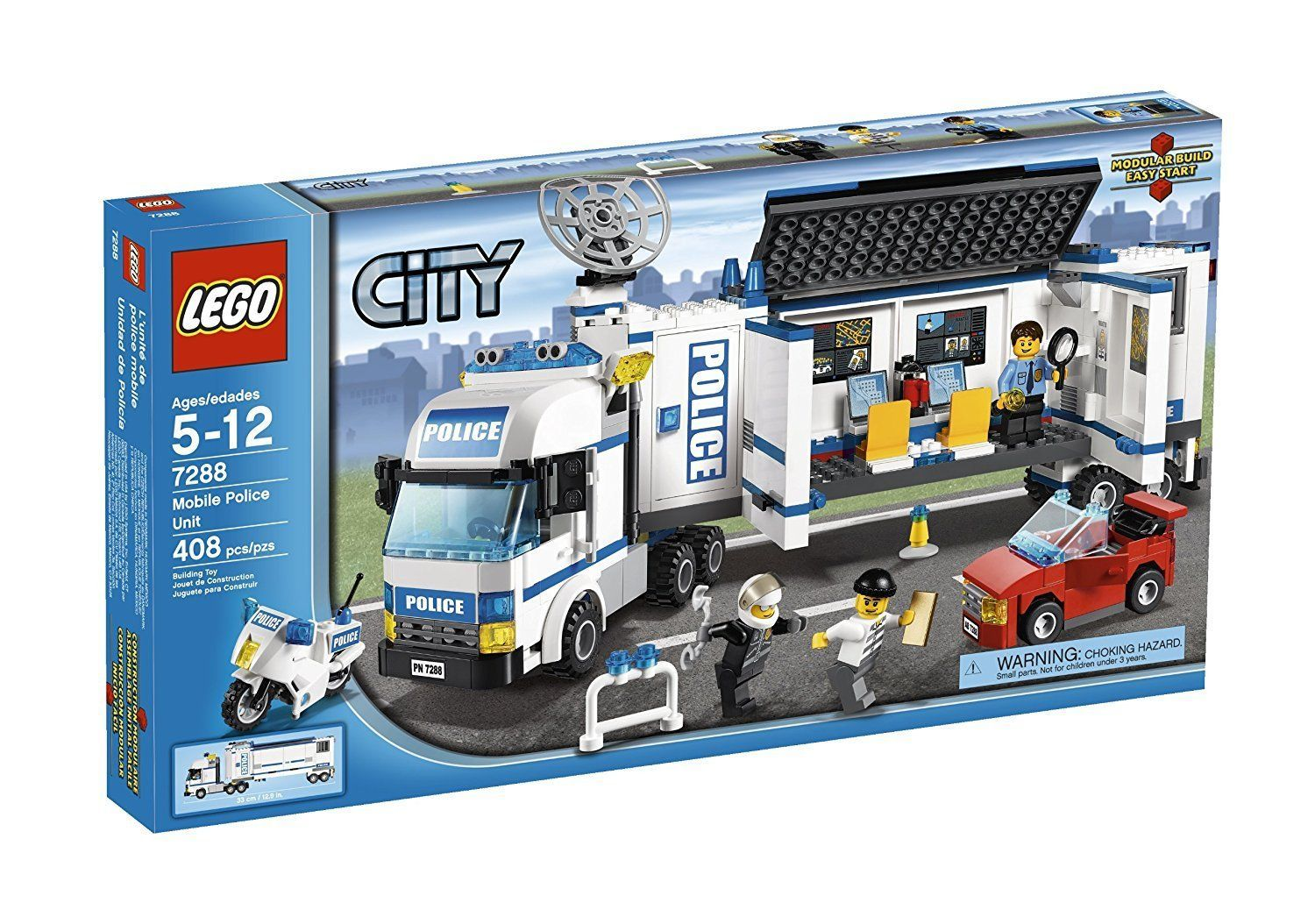 LEGO City Mobile Police Unit Building Play Set 7288 NEW