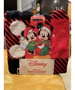 "Disney Christmas Mickey Mouse Super Soft Travel Blanket Super Comfy 45""×... - $24.99"
