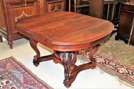 Antique French Walnut Wood Louis XV Short Game Table Living Room Furniture - $1,104.00