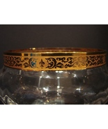 Lenox~Crystal Glass Bowl Dish with 24K Gold Lace Top Rim Band Trim - $19.99