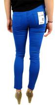 Kensie Jeans Women's Premium Skinny Slim Fit Ankle Biter Pants Blue Stone image 2