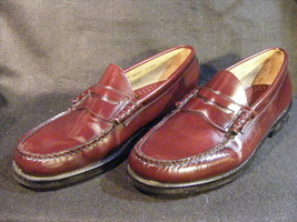 Men's Bass Mahogany Leather Penny Loafers Size 9M - $9.94