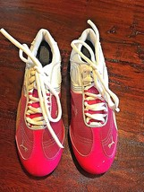 PUMA Ring Trainers Womens Hot Pink & White Sports Shoes Footwear Sz 8 - $30.57