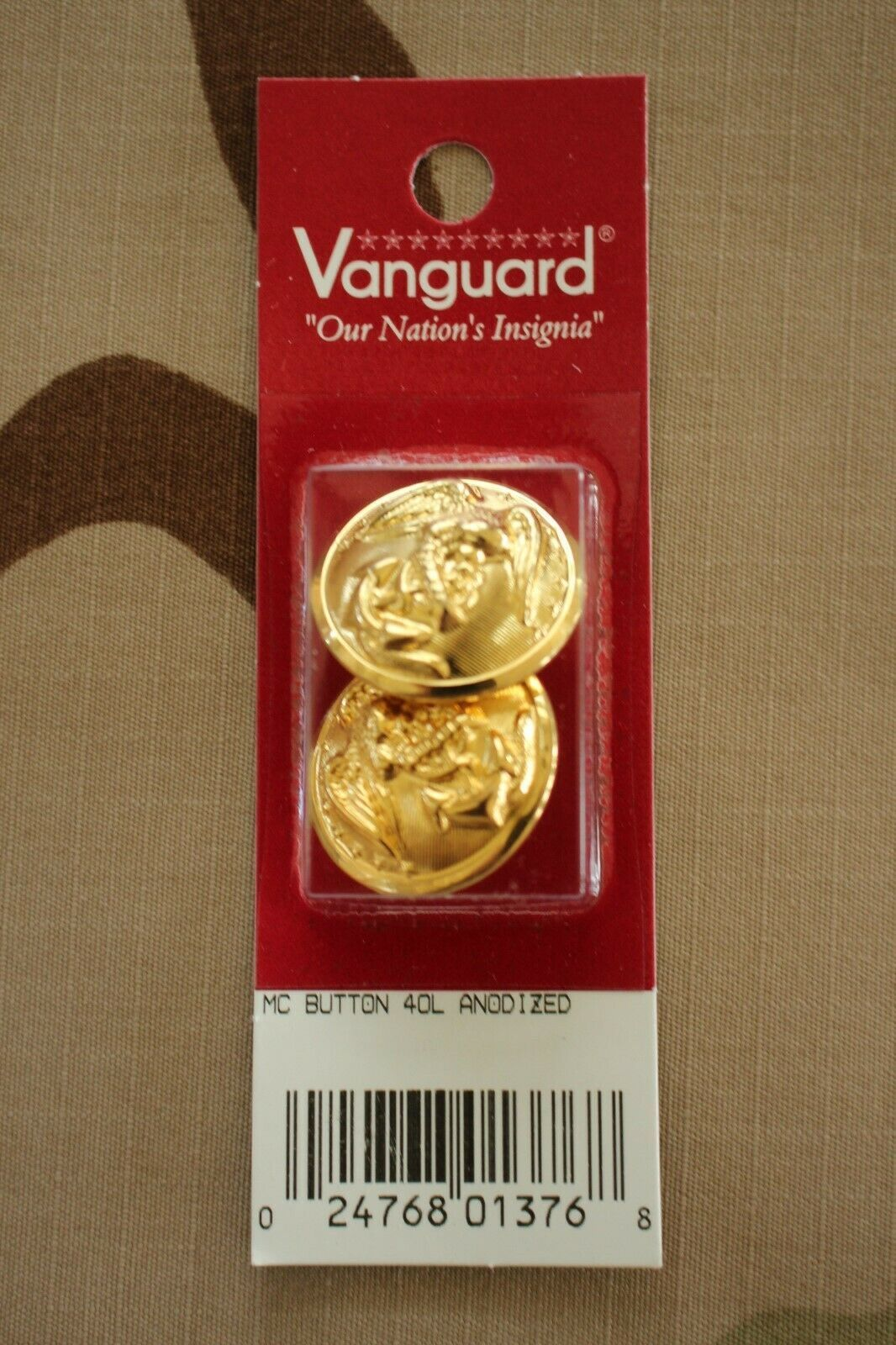 Primary image for USMC US MARINE CORPS ALL ENLISTED CHOKER JACKET LARGE GOLD LOOP BACK BUTTON PAIR