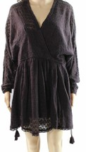 2630-2 Free People Women's Snug Bug Wrap Sweater Mini Dress (Small, Plum... - $43.02