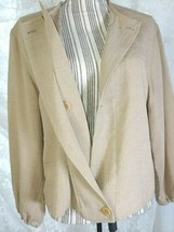 Armani Collezioni Women's Brown Double Breasted Jacket 60% Acetate Long ... - $127.71