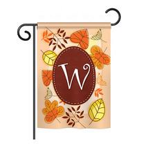 "Autumn W Initial - 13"" x 18.5"" Impressions Garden Flag - G180049 - $17.97"