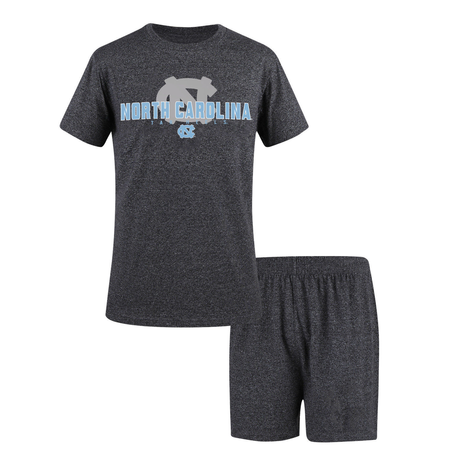 North Carolina Men's Sleepwear Set Shorts Tee Shirt 2-pc Lounge UNC Tar Heels