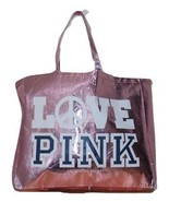 Victorias Secret PINK Pink Metallic LOVE PINK Tote Bag LIMITED EDITION NWT - $111.86