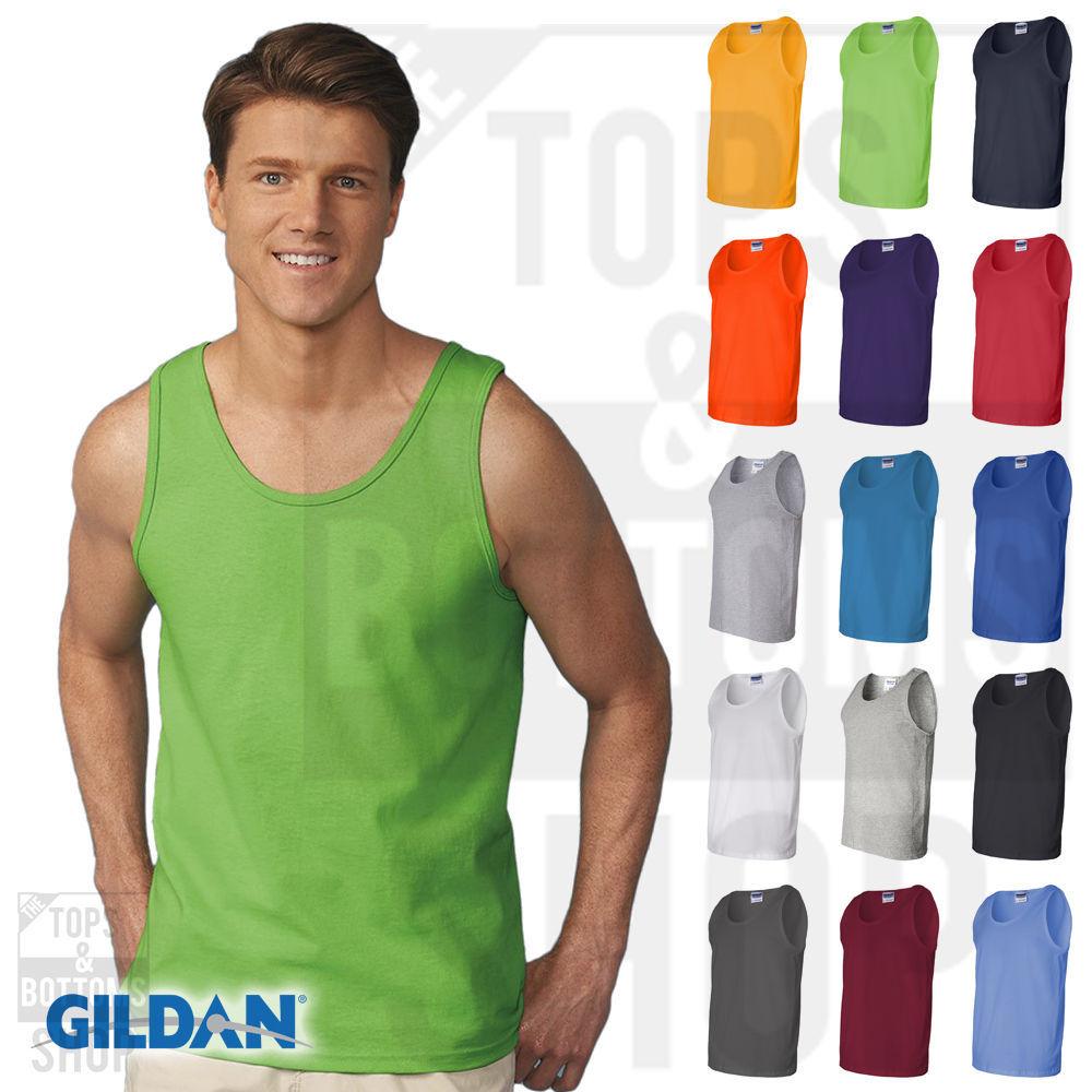 ea812f1d4805c7 Gildan Mens Ultra Cotton Tank Top Workout and 50 similar items. S l1600