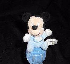"7"" DISNEY BABY MICKEY MOUSE BLUE ABC BLOCK RATTLE CHIME STUFFED ANIMAL PLUSH TOY image 2"