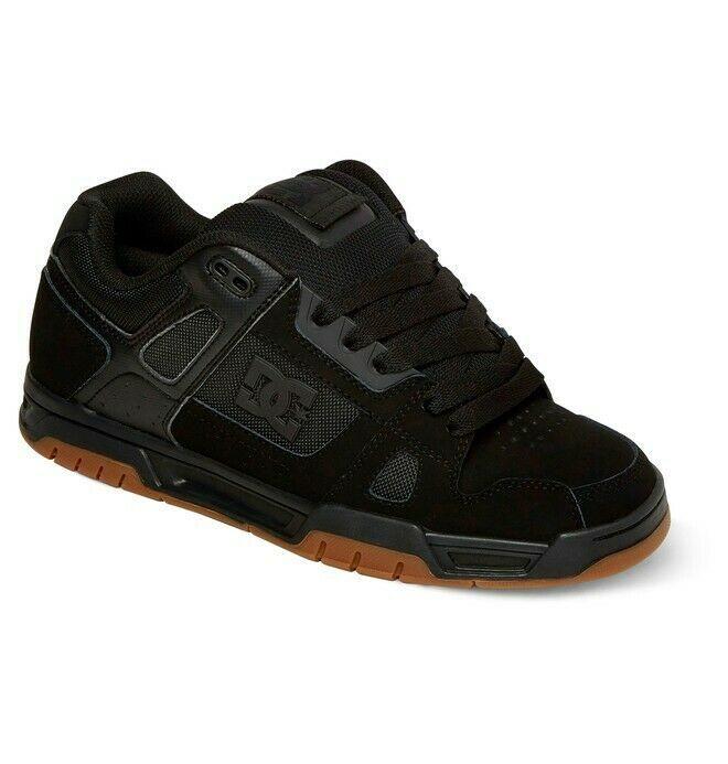 Mens DC Stag Skateboarding Shoes NIB Black Gum        (bgm)