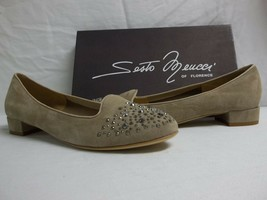 Sesto Meucci Of Florence Size 10 M Steffy Beige Suede Flats New Womens S... - $137.61