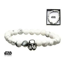 Disney Star Wars Stainless Steel Stormtrooper with Howlite Beads Bracelet - $39.20