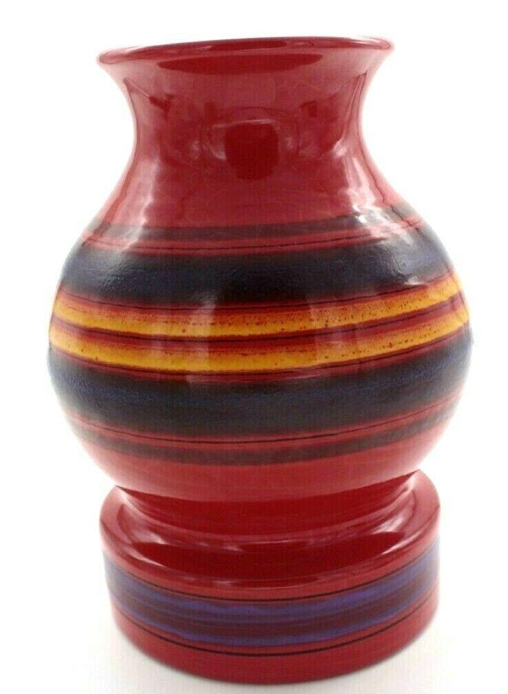 ALDO LONDI for Bitossi Original Rosenthal Netter Tag Italian Art Pottery Vase - $202.50