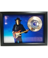 Stevie Ray Vaughn custom gold record and mini guitar display - $142.45
