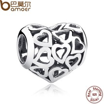 925 Sterling Silver Skeleton Heart Charms fit Bracelets & Necklace - $12.99