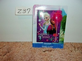 Disney Frozen Anna & Elsa Sisters Diary with Fluffy Pink Pen NEW FACTORY... - $9.99