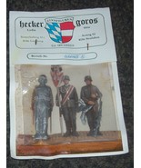 54mm 1/32 METAL HECKER GOROS WW2 GERMAN ON PARADE - $20.00