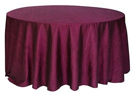 Your Chair Covers - 120 Inch Round Crinkle Taffeta Tablecloth Eggplant, ... - $28.22