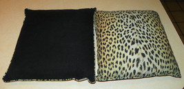 Pair of Cheetah Print Decorative Down Filled Throw Pillows  17 x 17 - $69.95