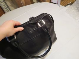 B. Makowsky black soft leather purse tote hand bag organizer computer laptop image 7