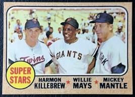 1968 Topps #490 Superstars Reprint - Killebrew - Mays - Mantle - MINT - $1.98