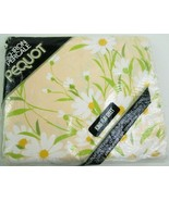 NEW Vintage Dainty Daisies Sheet King Flat Pink White Pequot NOS NUE Package - $38.92