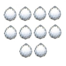 Waltz&F 30mm Faceted Clear Crystal Ball Prisms for Feng Shui, Home Decor... - $26.43