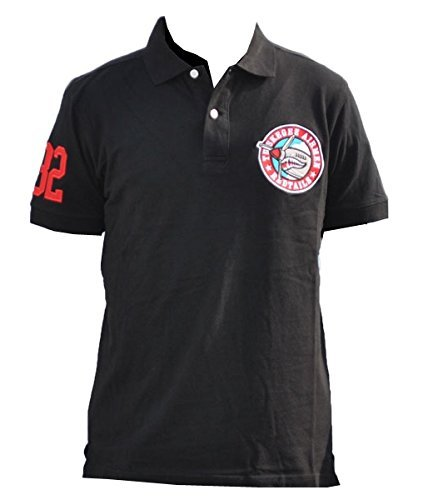 Tuskegee Airmen Mens Polo T-Shirt Extra Large Black for sale  USA
