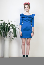 60s Boho cobalt blue dress - $69.10