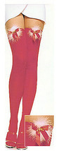 Christmas Jingle Bell RED Thigh High Tights with Furry Fluff and Gold Bells - $11.99