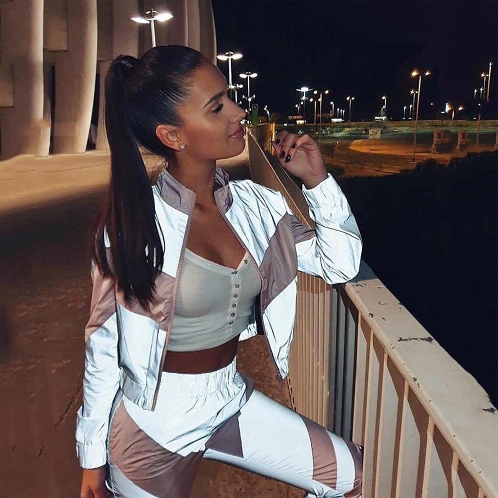 Clothing sets tracksuits 2020 spring long sleeve zipper top elastic waist long pants women sweat