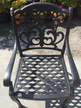 Outdoor dining chairs set of 6 cast aluminum patio furniture rust free image 3