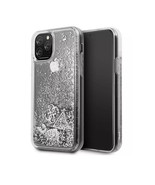 GUESS Phone Case For iPhone Xs MAX Hard Case PC/TPU w/Charms Glitter Silver - $19.78