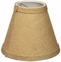 Urbanest Chandelier Lamp Shade 6-inch, Hardback, Clip On, Burlap - $7.91
