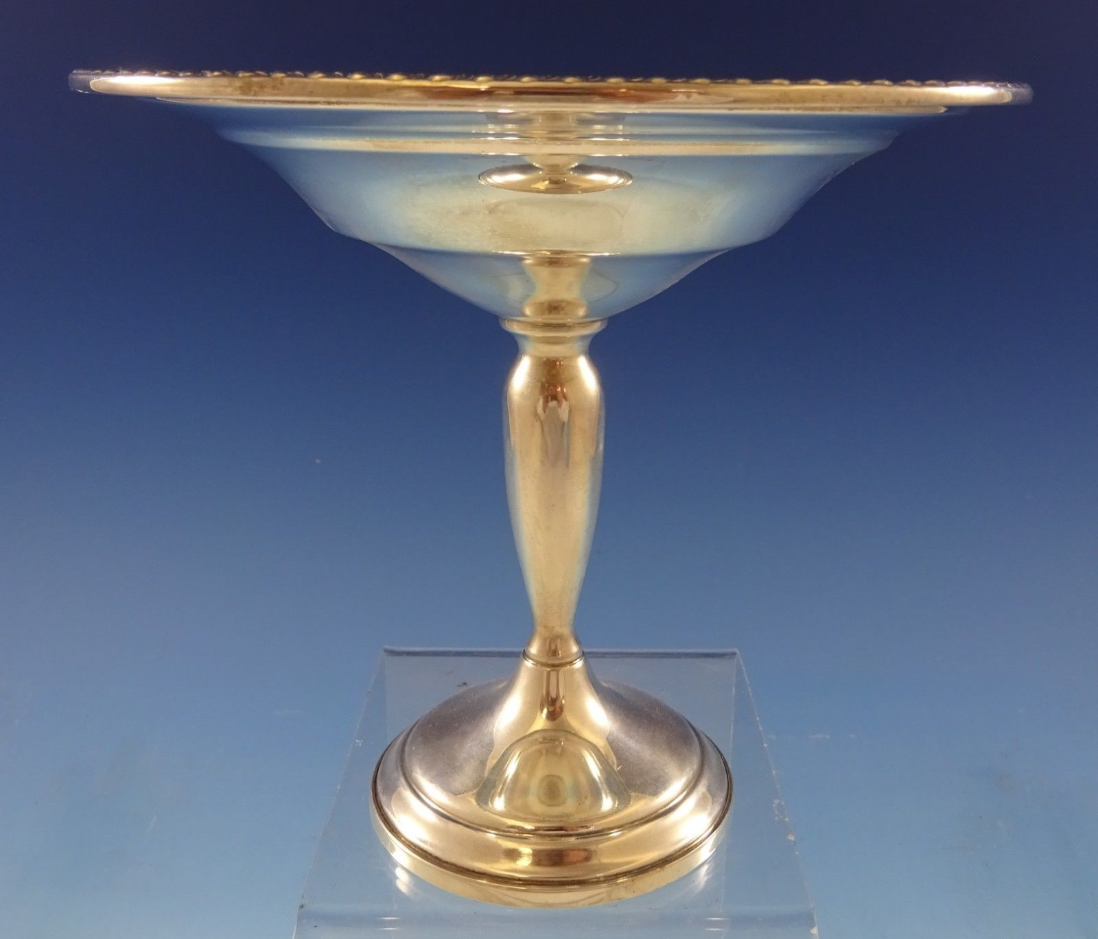 Primary image for Mueck-Carey Sterling Silver Compote Raised with Gadroon Border #673 (#2454)
