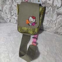 Hello Kitty Sanrio Child's Size Shoulder Sling Canvas Bag satchel purse - $14.84