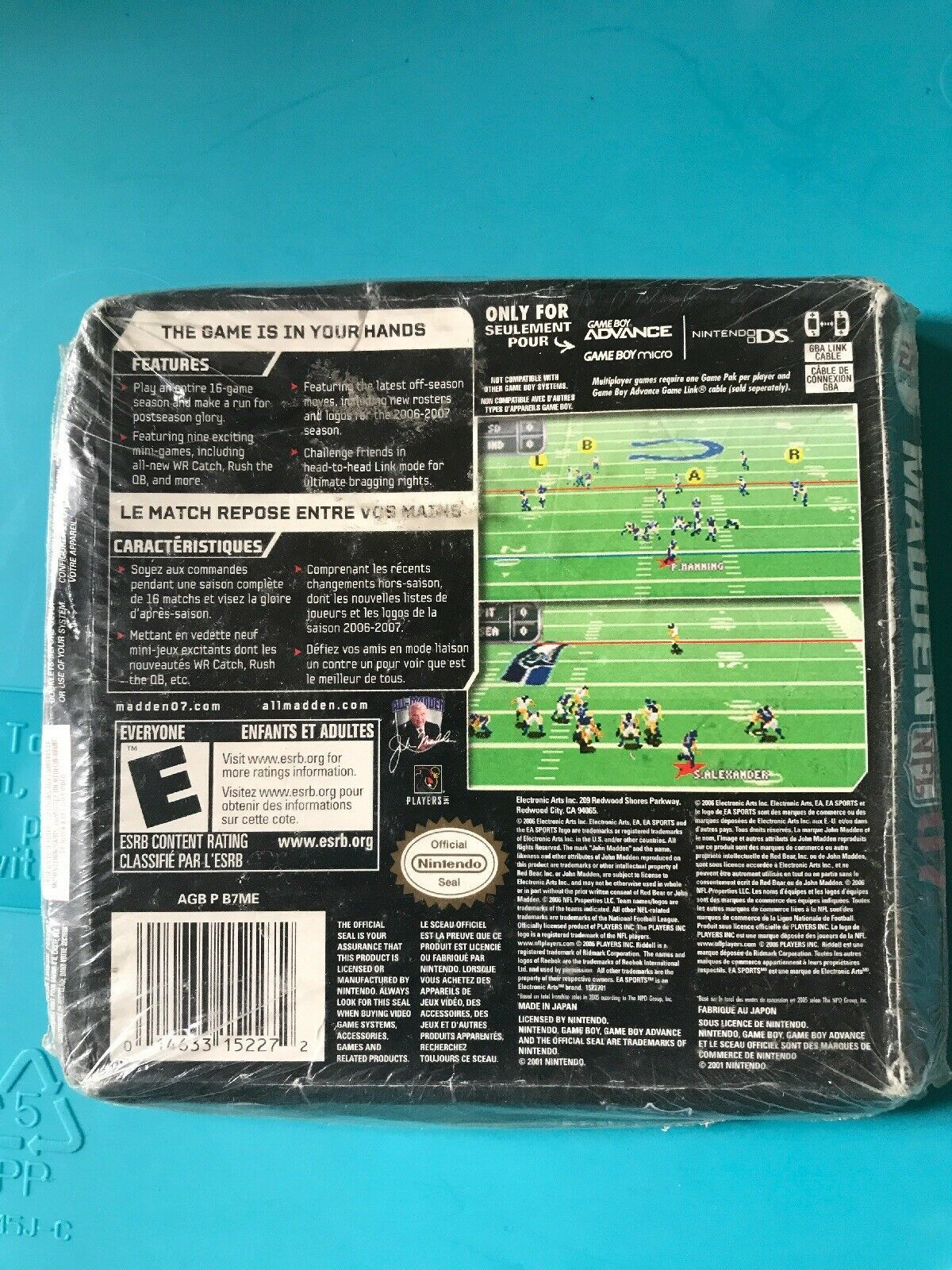 Madden 2007 Nintendo Game Boy Advance Brand New Factory Sealed GBA