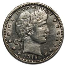 1916D Barber Quarter 25¢ Silver Coin Lot # MZ 3969